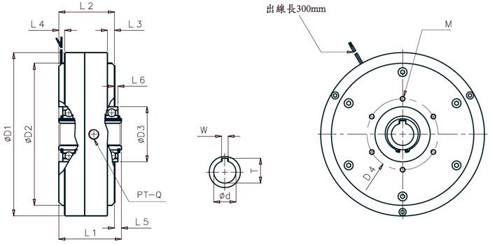 powder brake  magnetic particle brake   18 ft